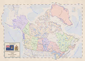 Maple Leaf Forever: Map of Crown Atomic Canada by Vexillographist