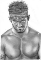 Zack Ryder Pencil Drawing by Chirantha