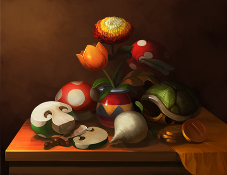 Mario Still Life by Photia