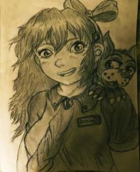 A Girl with a small dog by SwordMaster20