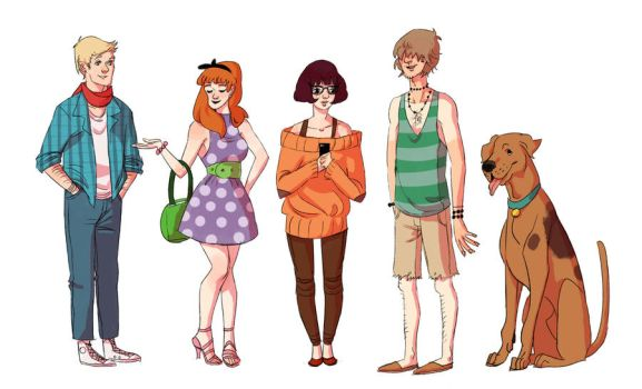 hipster scooby doo by wiccimm