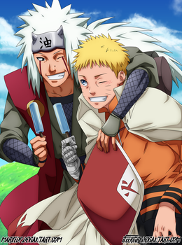 Will of fire! Naruto and Jiraiya - (Collab) by iFeerGirl