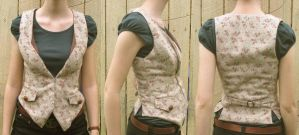 Floral Vest by thoughtdisorder