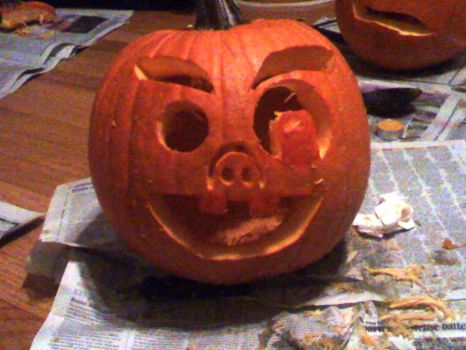 My First Pumpkin Carving by VegetaGirl2k2