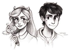 Star and Marco by veirven