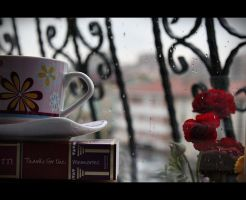 Book, Rain, Coffee by photomel