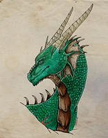 Emerald dragon by DarkAfi4
