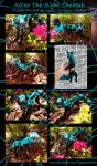 Astra The Night Cheetah Posable Art Doll Comp by Eviecats