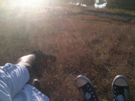 Laying in the grass by gothinme