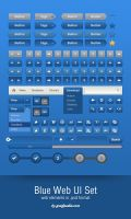 Blue Web UI Set by Grafpedia