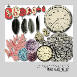 Vintage Tiny Things PNG Pack by DarknessOnly13
