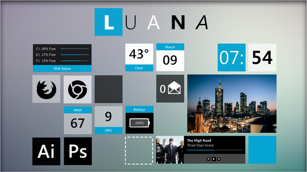 Luana 2.0 Rainmeter Suite. by jlynnxx