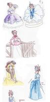 Historical Nyotalia Sketchdump by EsuNeh
