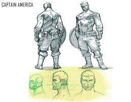 Captain America Model Sheet by ZurdoM