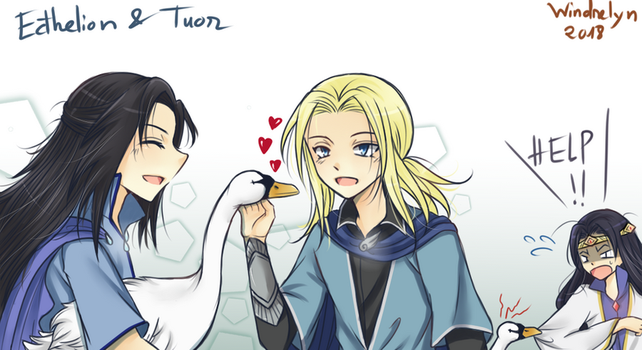 Swans are lovely by Windrelyn