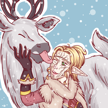 Lycanae and Winter Halla by Kaninkimchi