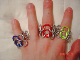 Chain mail Rings by PsychofoxR