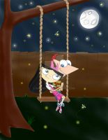 Swinging in the moonlight -color- by natysPnF