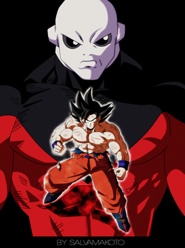 Goku vs Jiren by salvamakoto