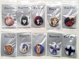 Kill la Kill Fanart Buttons by OverVenture