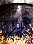 Saber Alter Cosplay On Flame by AliceNero