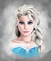 Elsa the Snow Queen by Chicken--Scratch