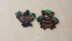 Phantump + Trevenant - Perler Bead Sprite Set