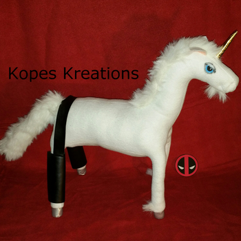 Deadpool Sexy Unicorn with Buttless Chaps Plush by kopeskreations