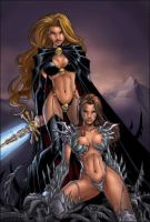 lady death witchblade colors by cakes