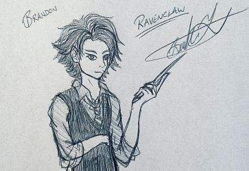 Goof Doodles - Me in Ravenclaw (HP) by Zer0-Stormcr0w