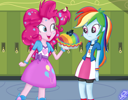Secrets and Pies S7 Ep 23 - Rainbow and Pinkie by liniitadash23