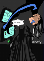 Nightwing annoys Bats by ScruffyScribbler