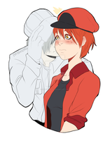 Cells at work fanart ship by OblivionLeaf