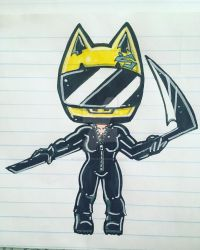 Chibi Celty by Primeval-Wings