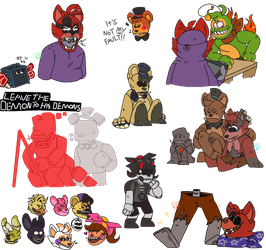 UCN Doodles by SolarStickers