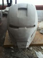 iron man clay WIP 6 by newdeal666