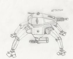 Attrition Infantry Robot by Imperator-Zor
