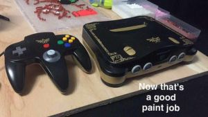 Legend of Zelda Themed Nintendo 64 Console by Pingpong980