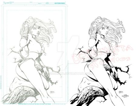 Shanna the She-Devil_Pencils and Inks by debuhista