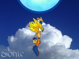 SSJ Sonic Spirit Bomb part 1 by o0Vegeta0o