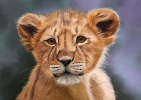 Little Lion, digital painting by Sarahharas07