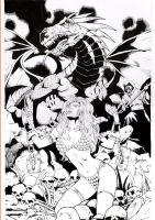 red sonja cover test by amorimcomicart