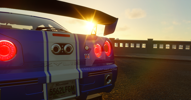 The Crew| Nissan Skyline R34 v-spec by 3xhumed