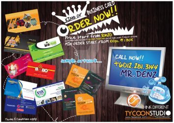 business card promotion by stitchDESIGN