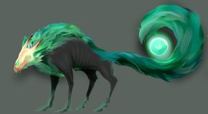 Soulbound Hound - Auc. (CLOSED)/Comissions (OPEN) by KrugMitLoch