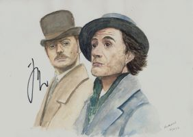 HOLMES and WATSON autographed by Auri3