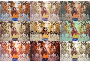 Autumn Photoshop Actions by ViktorGjokaj