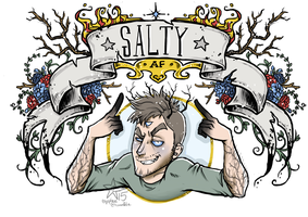 Salty AF - Tres by woodooferret