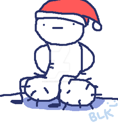 Sitting nuts but is xmas by DecaydBlacked