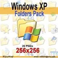 Windows XP Folders Pack 256 by werewolfdev
